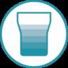 Les verres ne comptabilisent que l'eau qui a été réellement bue (et non renversée)